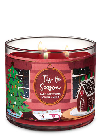 Tis The Season   3 Wick Candle    by Bath & Body Works