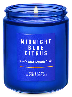 Midnight Blue Citrus Single Wick Candle