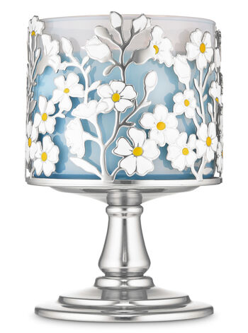 Wild Flower Pedestal 3-Wick Candle Holder - Bath And Body Works
