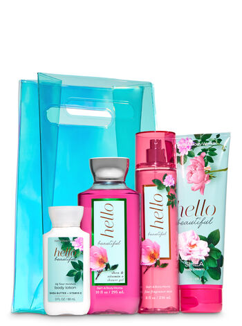 Hello Beautiful Iridescent Bag Gift Set