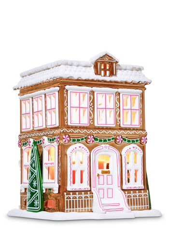 Gingerbread House Luminary 3-Wick Candle Holder