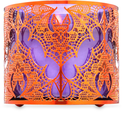 Halloween Lace 3-Wick Candle Holder