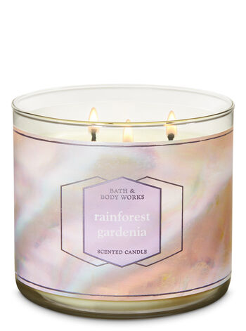 Rainforest Gardenia 3-Wick Candle - Bath And Body Works