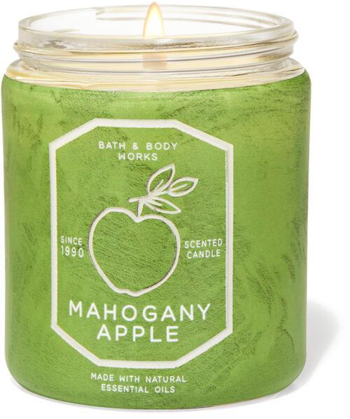 Mahogany Apple Single Wick Candle
