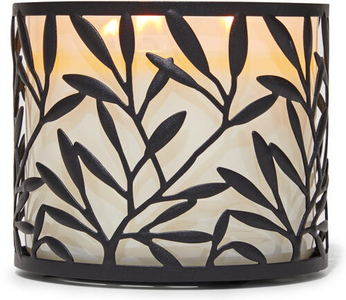Vine Leaf 3-Wick Candle Holder