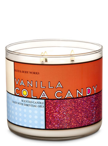 Vanilla Cola Candy 3-Wick Candle - Bath And Body Works