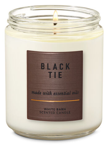 White Barn Black Tie Single Wick Candle - Bath And Body Works