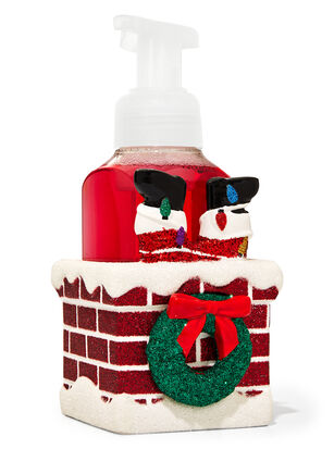 Santa in Chimney Gentle Foaming Soap Holder