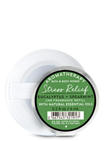 Aromatherapy Eucalyptus Spearmint Car Fragrance Refill - Bath And Body Works