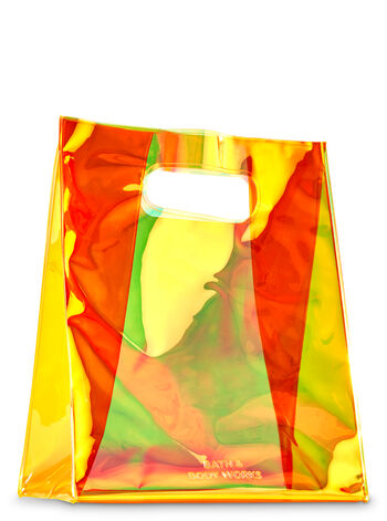 Orange Iridescent Gift Bag - Bath And Body Works