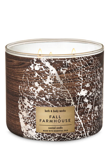 Fall Farmhouse 3-Wick Candle - Bath And Body Works