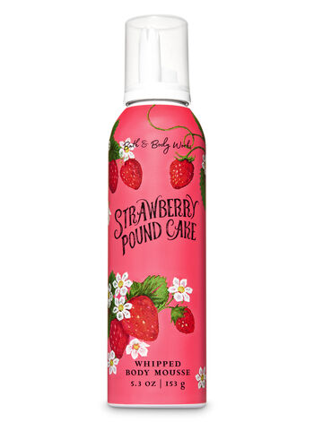 Strawberry Pound Cake Whipped Body Mousse - Bath And Body Works