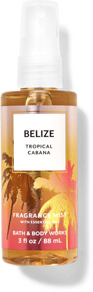 Belize Tropical Cabana Travel Size Fine Fragrance Mist