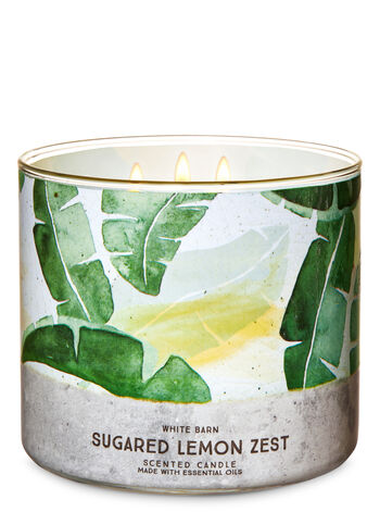 Sugared Lemon Zest 3-Wick Candle - Bath And Body Works