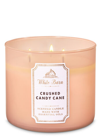 White Barn Crushed Candy Cane 3-Wick Candle - Bath And Body Works