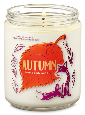 Autumn Single Wick Candle - Bath And Body Works