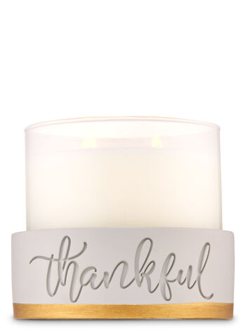 Thankful Ceramic 3-Wick Candle Holder - Bath And Body Works