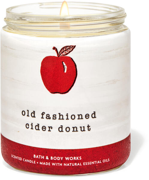 Old Fashioned Cider Donut Single Wick Candle