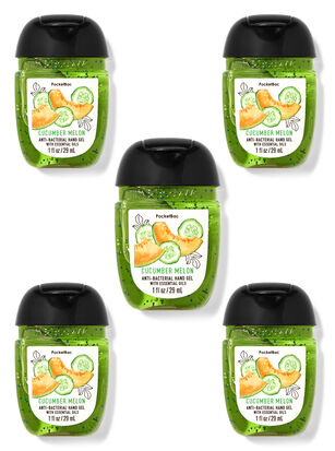 Cucumber Melon PocketBac Hand Sanitizers, 5-Pack