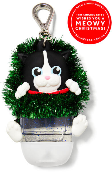 Noise-Making Cat in Wreath PocketBac Holder