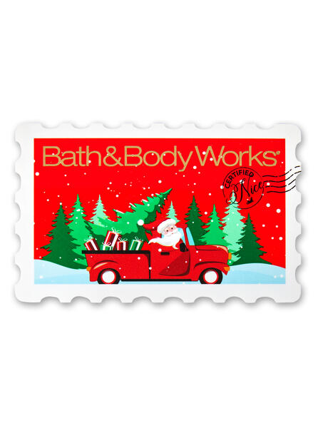 Santa With Truck Stamp Gift Card