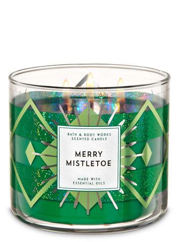 White Barn Merry Mistletoe 3-Wick Candle - Bath And Body Works