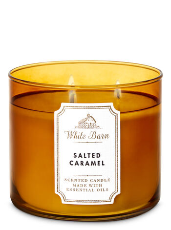 White Barn Salted Caramel 3-Wick Candle - Bath And Body Works
