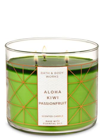 Aloha Kiwi Passionfruit 3-Wick Candle - Bath And Body Works