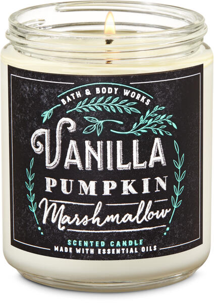 Vanilla Pumpkin Marshmallow Single Wick Candle