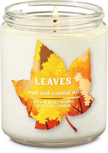 Leaves Single Wick Candle