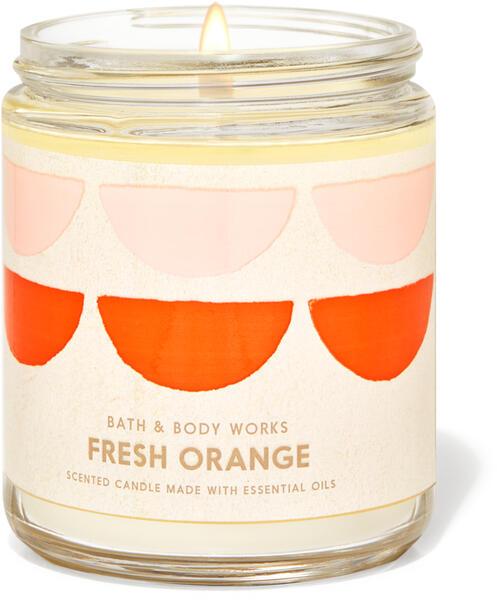 Fresh Orange Single Wick Candle