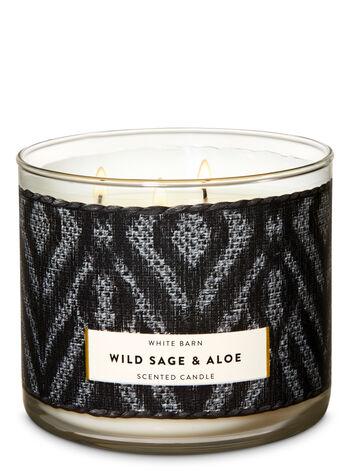 Wild Sage & Aloe 3-Wick Candle - Bath And Body Works