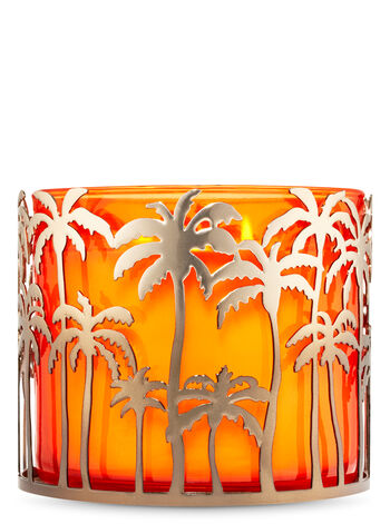 Palm Tree Skyline 3-Wick Candle Holder - Bath And Body Works