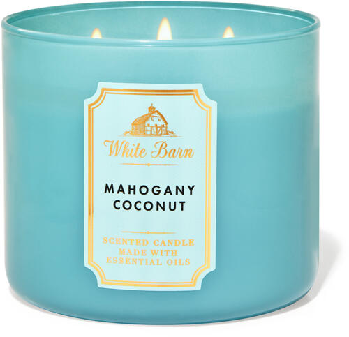Mahogany Coconut 3-Wick Candle