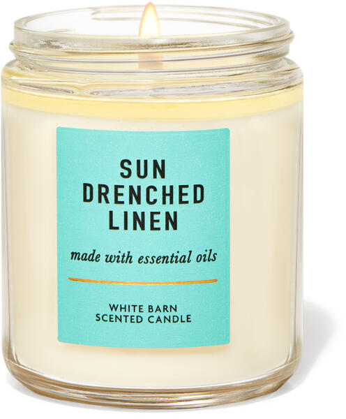 Sun-Drenched Linen Single Wick Candle