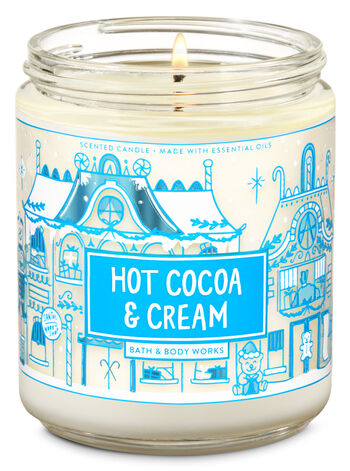 Hot Cocoa & Cream Single Wick Candle - Bath And Body Works