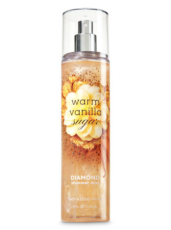 Signature Collection Warm Vanilla Sugar Diamond Shimmer Mist - Bath And Body Works