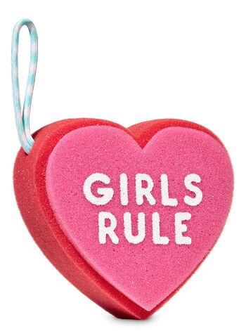 Girls Rule Heart Shower Sponge - Bath And Body Works