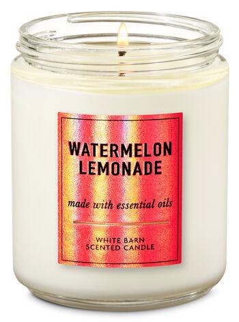 Watermelon Lemonade Single Wick Candle - Bath And Body Works