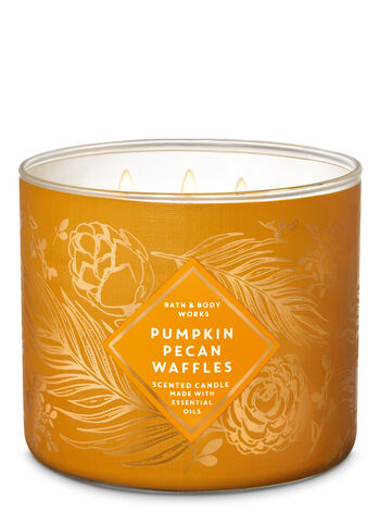 Pumpkin Pecan Waffles 3-Wick Candle - Bath And Body Works