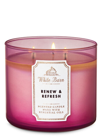 White Barn Renew & Refresh 3-Wick Candle - Bath And Body Works