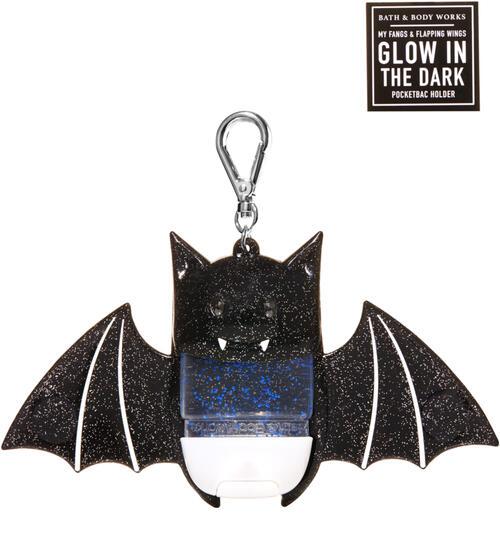Glow-in-the-Dark Glitter Bat PocketBac Holder