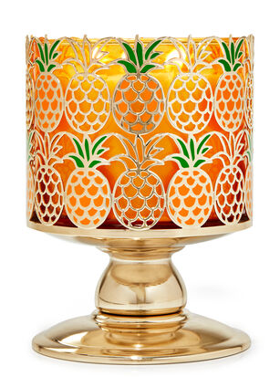 Pineapple Pedestal 3-Wick Candle Holder