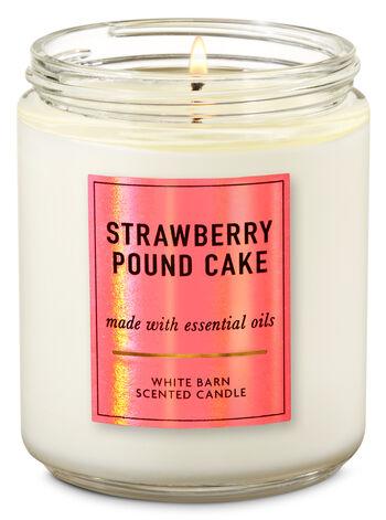 Strawberry Pound Cake Single Wick Candle - Bath And Body Works