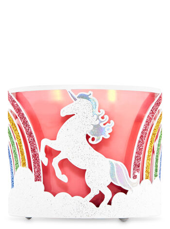 Glittery Unicorns 3-Wick Candle Holder