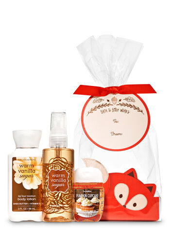 Warm Vanilla Sugar Fall Fox Mini Gift Set - Bath And Body Works