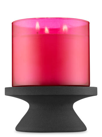 Black Stone Pedestal 3-Wick Candle Holder - Bath And Body Works