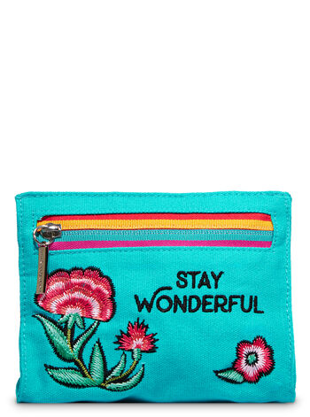 Hello Beautiful Stay Wonderful Cosmetic Bag Gift Set