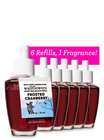 Frosted Cranberry Wallflowers Refills, 6-Pack