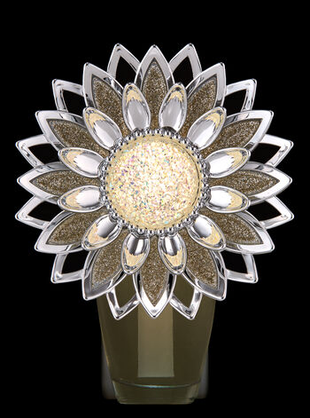 Sparkly Silver Flower Nightlight Wallflowers Fragrance Plug